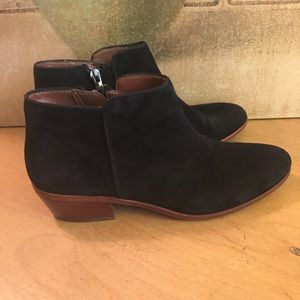 Sam Edelman Black Suede Ankle Boots Booties 8